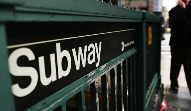 NY Subway entrance