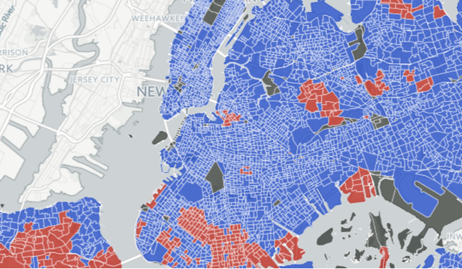 This Map Shows How Your Nyc Neighborhood Voted In The Election