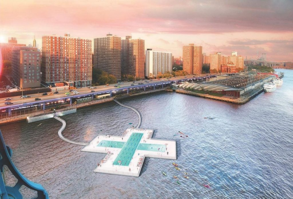 NYC's Incredible Floating 'Plus Pool' Finally Has A City-Approved Location