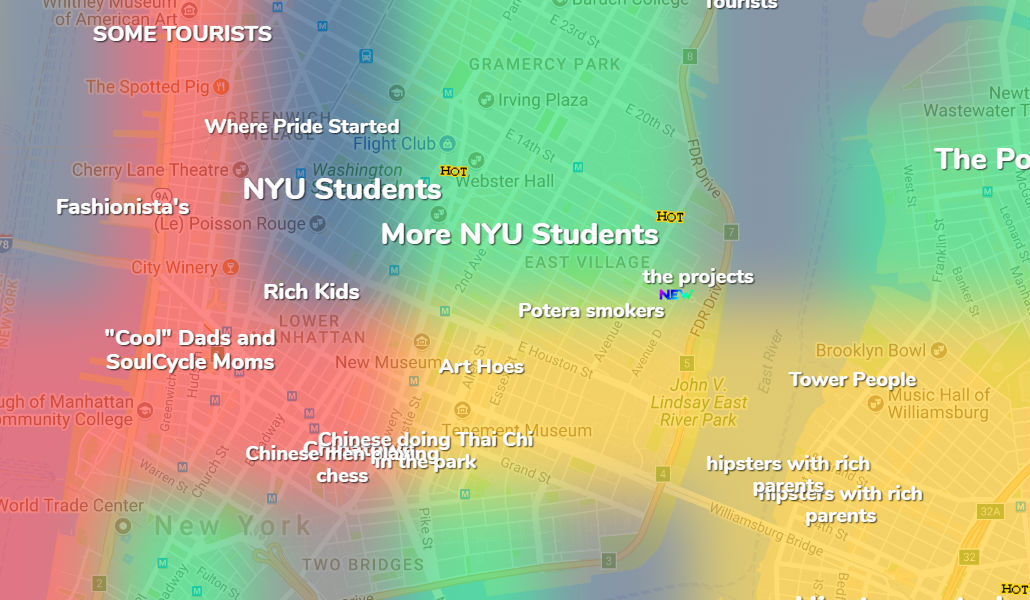 This Crowd-Sourced map Unveils Every NYC neighborhood Stereotype ...