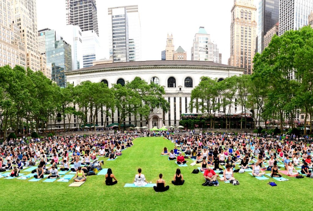 Bryant Park's Beloved Free Yoga Classes Finally Return This Month