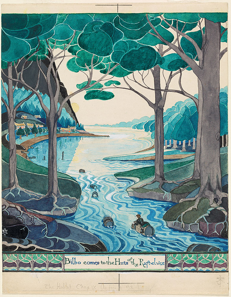 © The Tolkien Estate Limited 1937, via Morgan Library & Museum