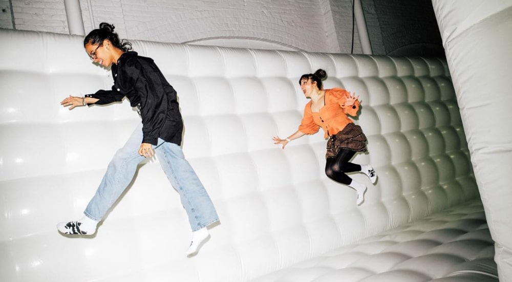Inside: CJ Hendry's Interactive Bounce House Art Piece In Brooklyn