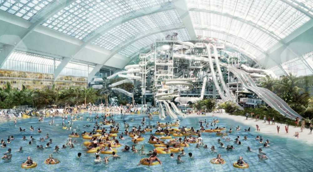 Mega Mall With Largest Indoor Water Park In The Western