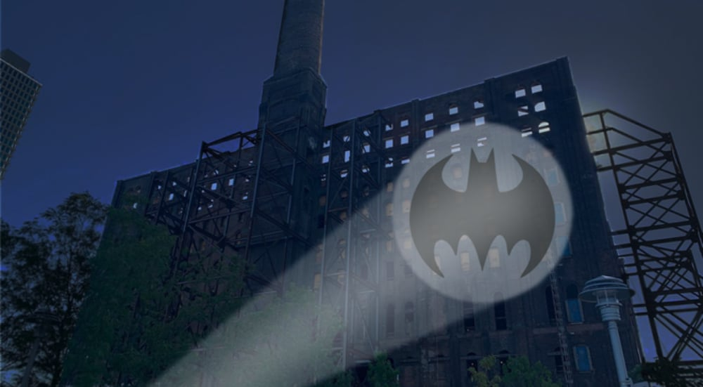 The bat signal is lighting up the night sky for Batman day