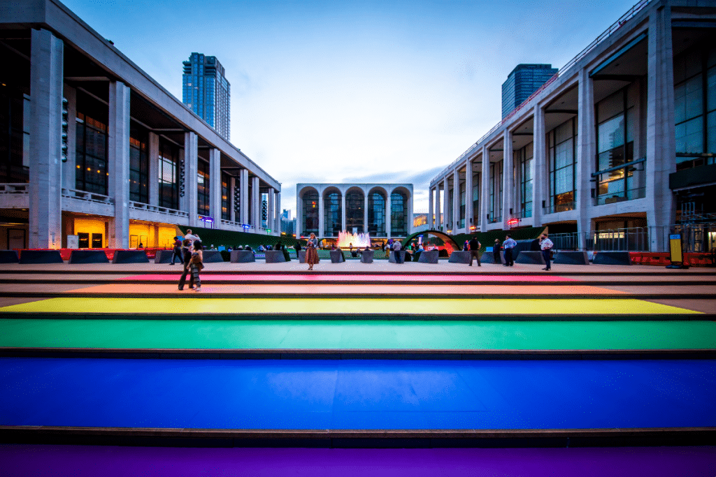Lincoln Center Is Lighting Up Rainbow For PRIDE Month