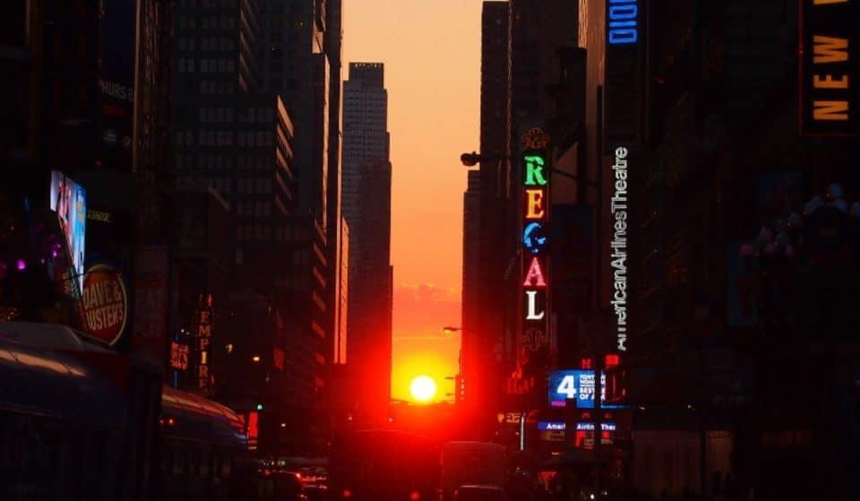 Last Manhattanhenge Sunset Of 2021 Will Make NYC Streets Glow Tonight