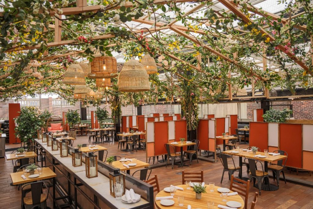 Eataly's Flatiron Rooftop Reopens Today As A Stunning Blooming Greenhouse