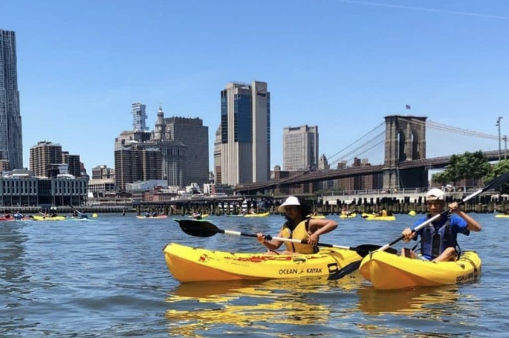 Free Kayaking Is Back At Brooklyn Bridge Park For The Summer