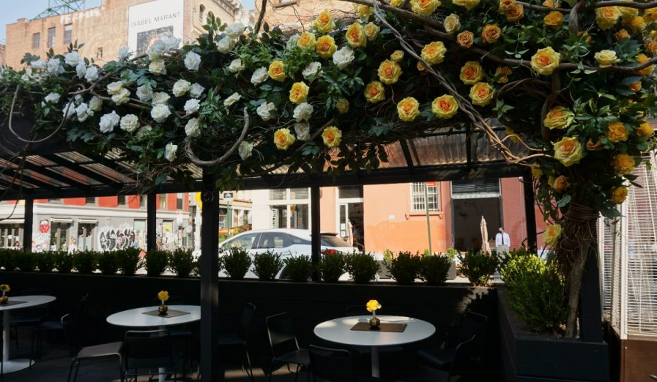 A Floral Oasis Awaits At This NYC Pasta Bar Perfect For Summer Dining