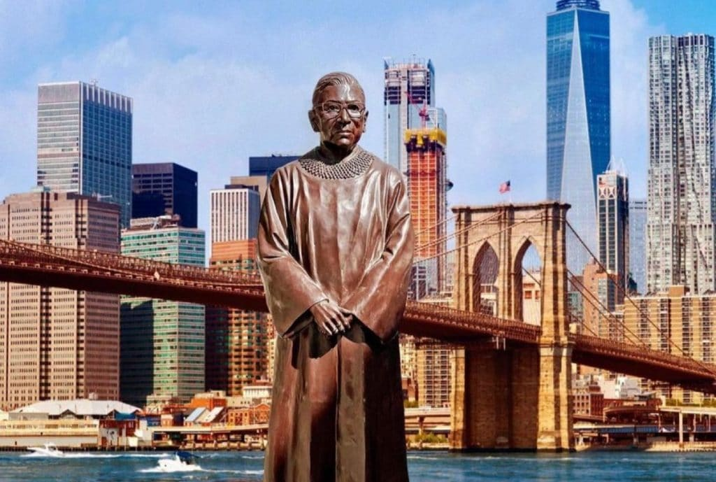 A Towering Statue Of RBG Was Just Unveiled In Downtown Brooklyn