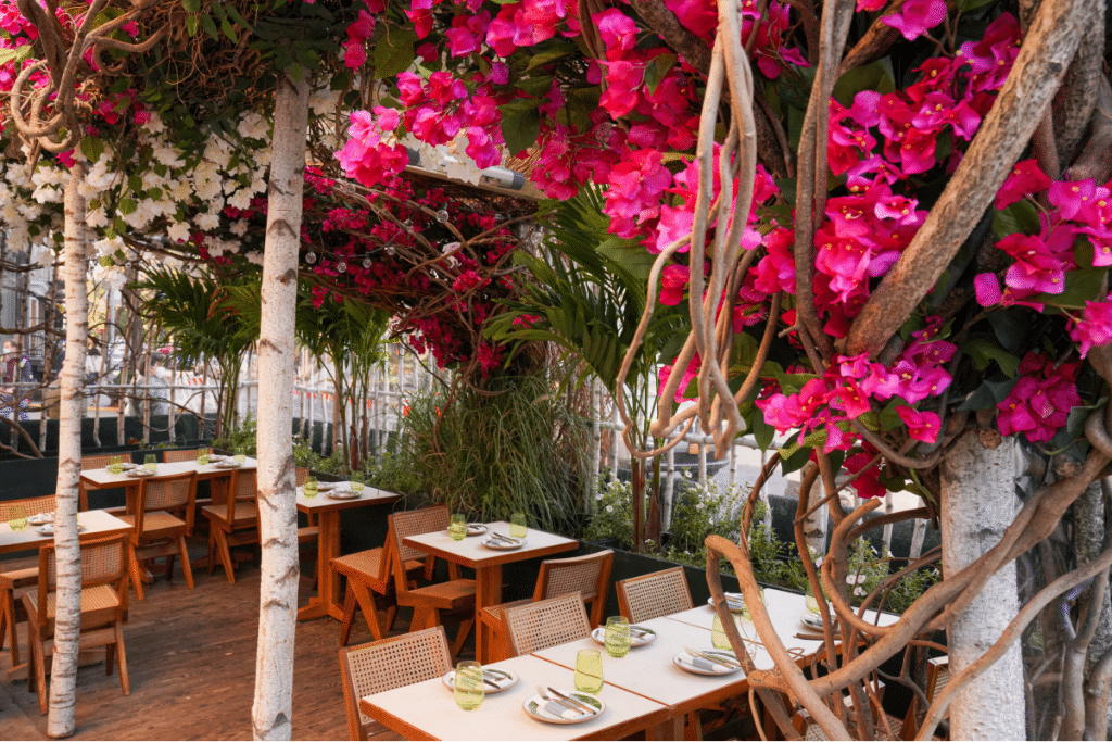 10 Prettiest Floral Outdoor Dining Setups Across NYC