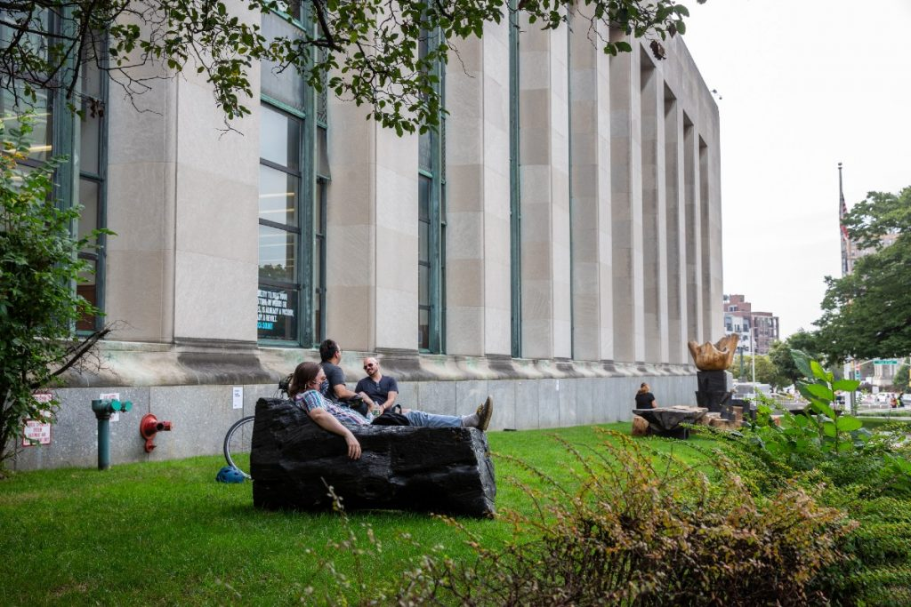 These Outdoor Reading Rooms At The Brooklyn Library Are The Perfect Place To Curl Up On A Sunny Day