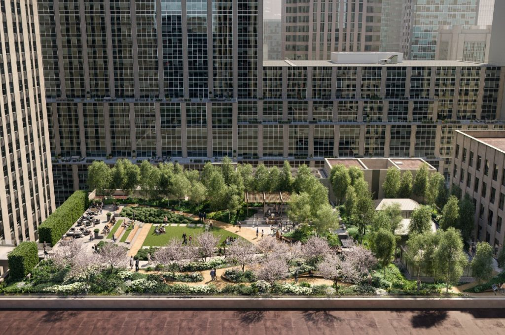A Lush Rooftop Park (& Skybridge!) Is In The Works For Radio City Music Hall