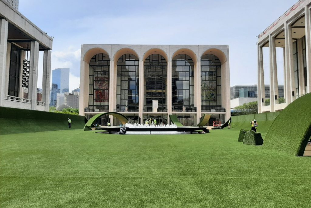 'The Green' At Lincoln Center Is Officially Open As Massive Public Lawn For New Yorkers