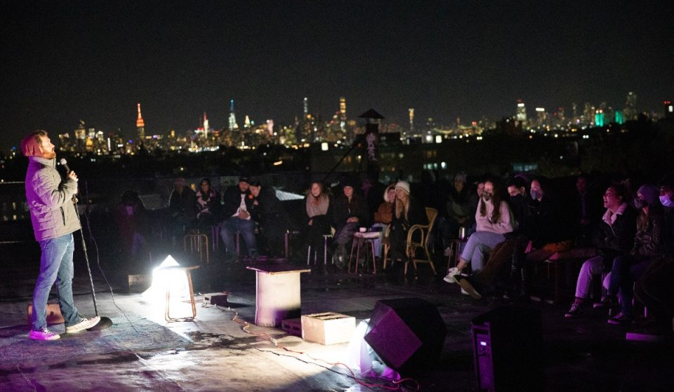 This Rooftop Comedy Night Showcases NYC's Top Comics With A Stunning Backdrop