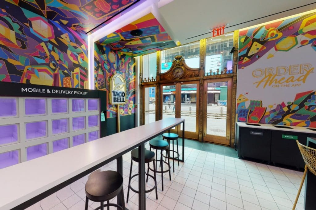 Taco Bell Opens First U.S. Digital-Only Location In Times Square Today