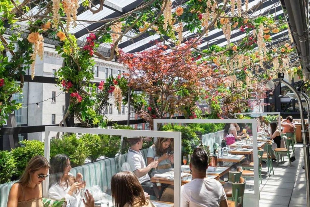This Rooftop In Meatpacking Just Got A Magical Floral Makeover
