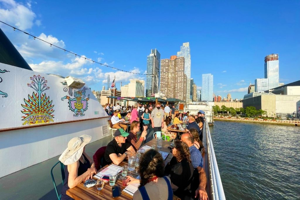 NYC's First & Only Floating Mexican Restaurant Is Now Open On The Hudson