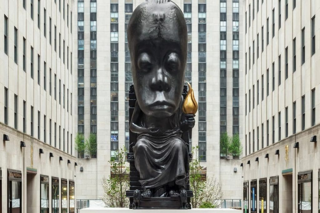Enormous 25-Foot Tall Sculpture Towers Over Rockefeller Center In New Art Exhibition