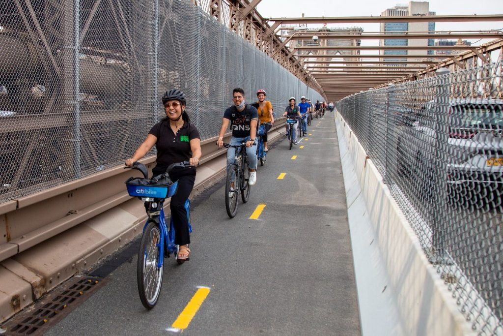 The Brooklyn Bridge's Highly-Anticipated Bike Lane Is Finally Open