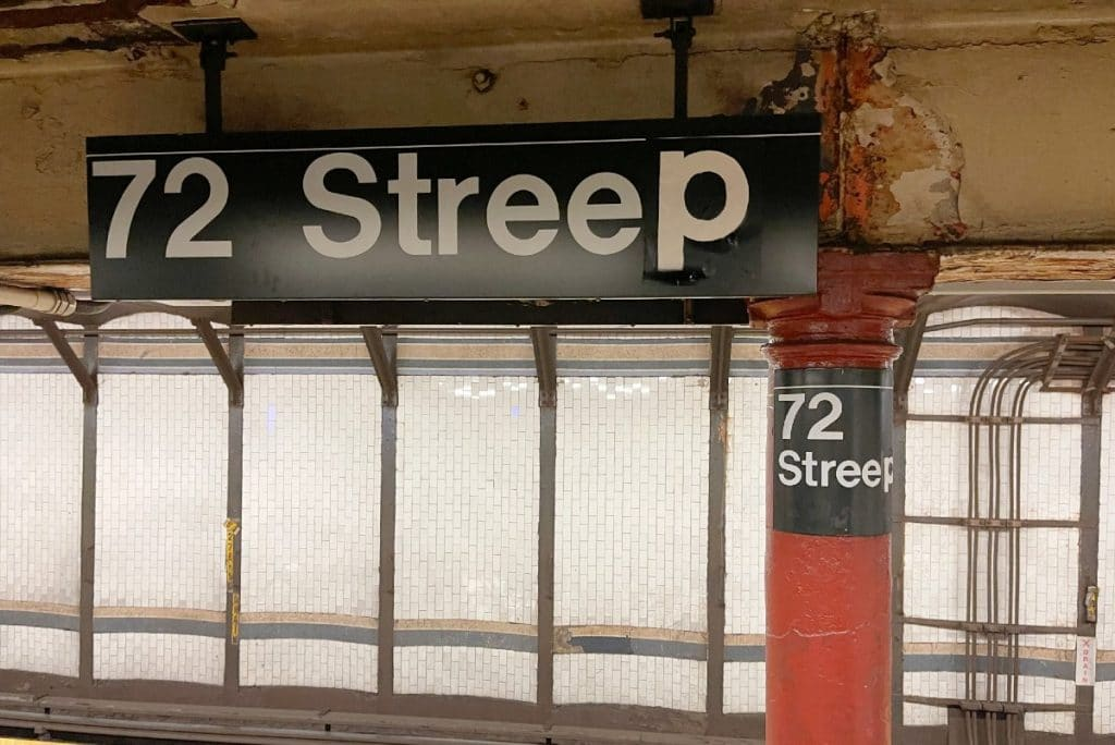 New Yorkers Change 72 St. Subway Station Sign For Meryl Streep's Birthday