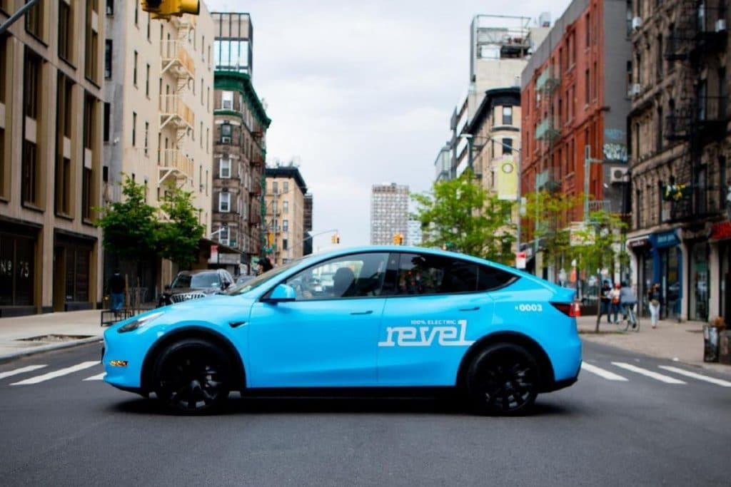 Blue Tesla Taxis Have Taken Over Manhattan Streets