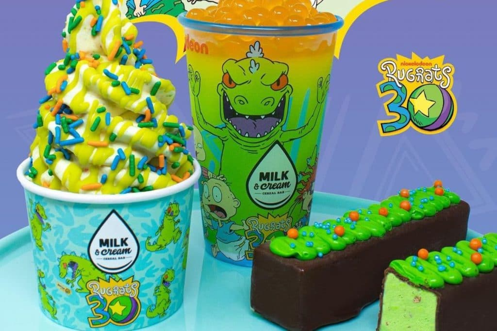 Milk & Cream Cereal Bar Rewinds To The 90s With Rugrats-Themed Menu