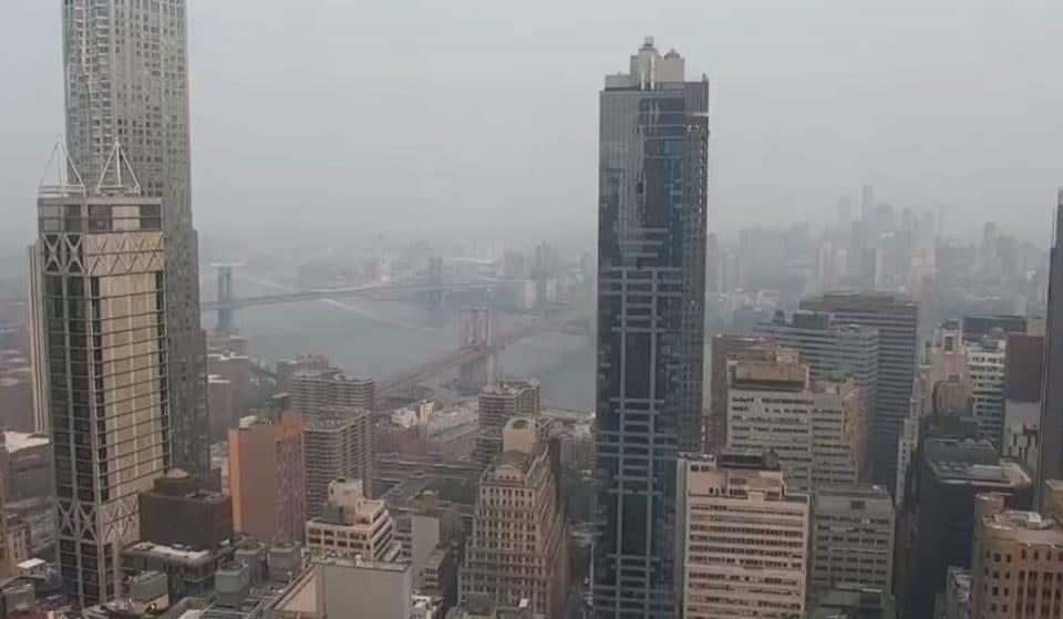 West Coast Wildfire Smoke Reaches NYC, Blanketing The City In A Deep Haze