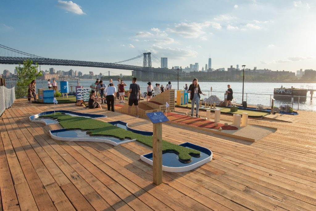 A Brand New Mini Golf Course Just Opened On The Williamsburg Waterfront