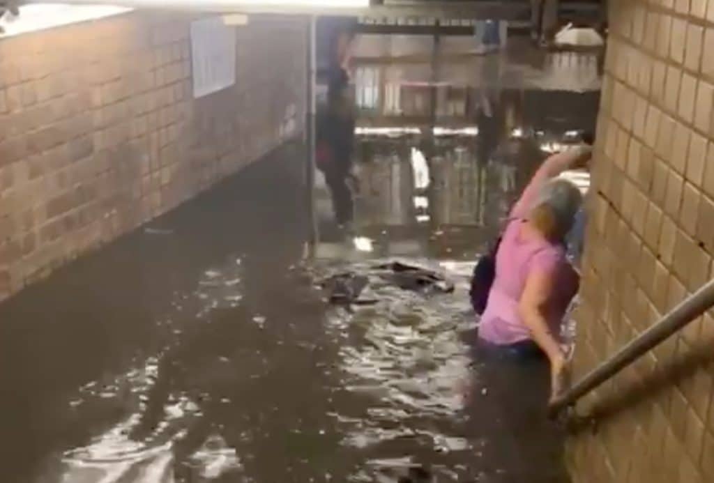 Record Rain From Tropical Storm Elsa Completely Floods NYC Streets & Subways