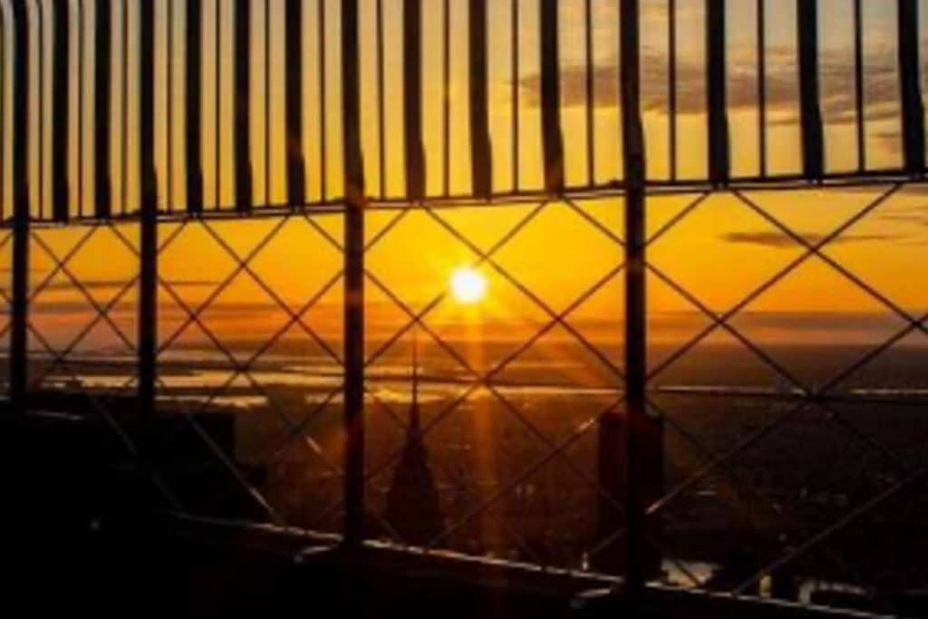 Watch The Sunrise From 1,050 Feet Above Manhattan For The ESB's 90th Birthday