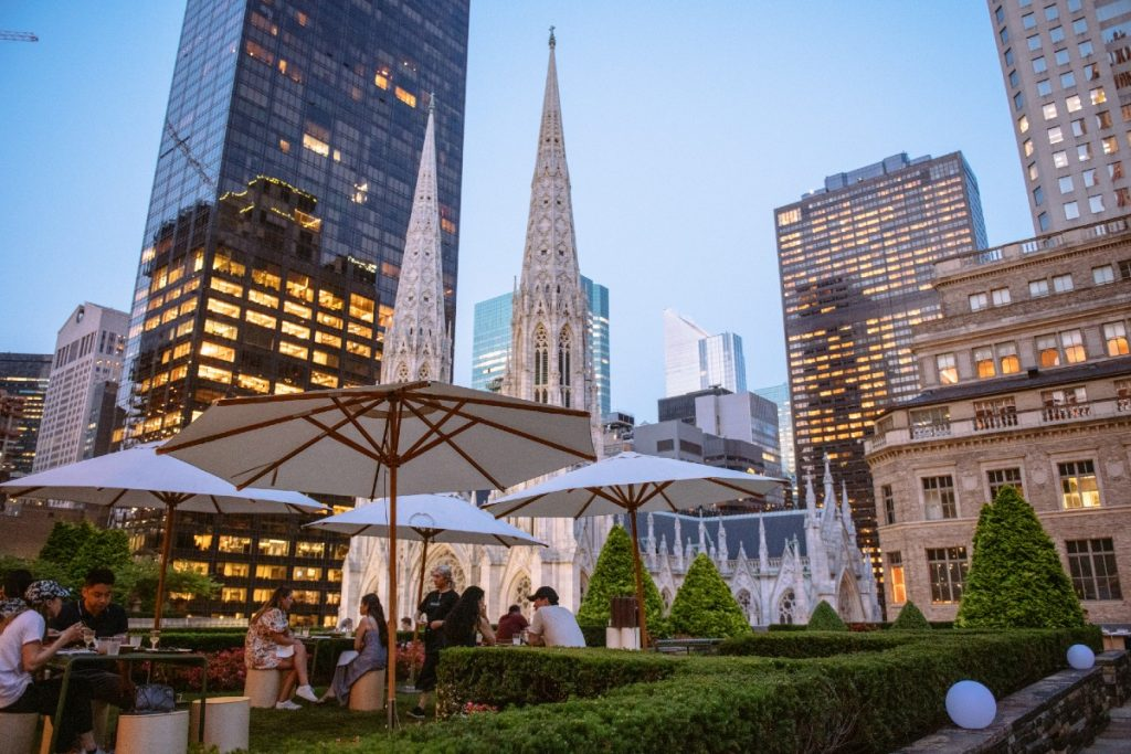 You Can Dine On Rockefeller Center's Glorious Rooftop Terrace For A Limited Time This Summer