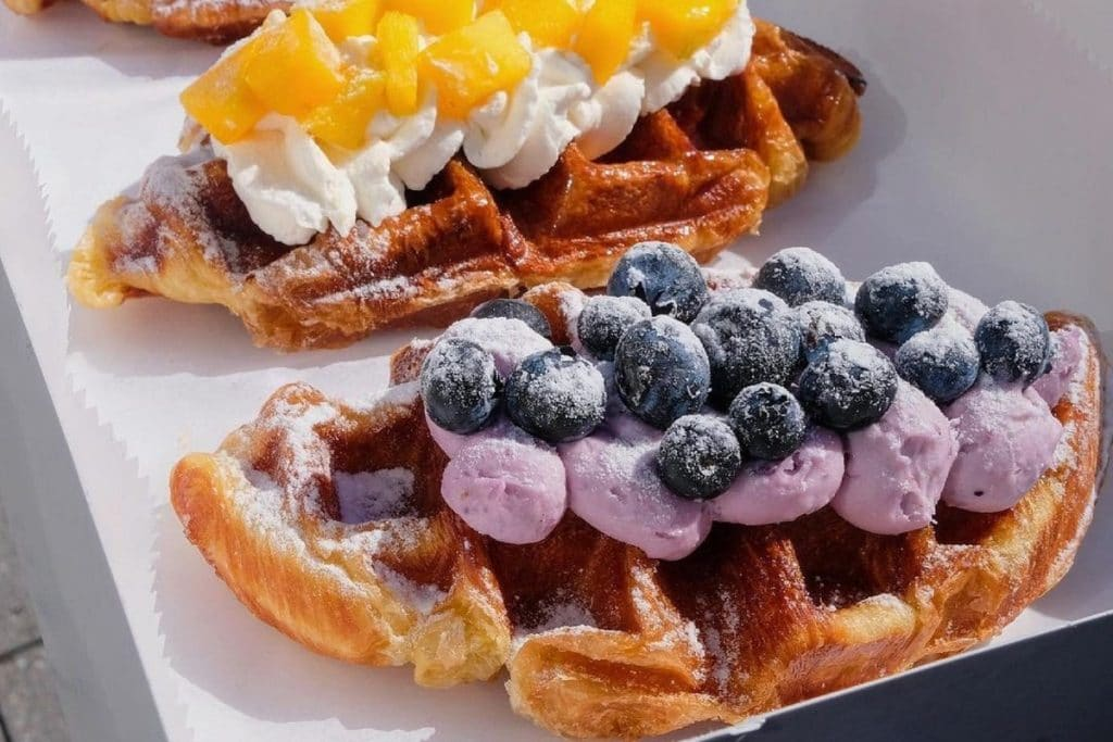 A Delicious New Food Hybrid Hits NYC Combining A Croissant & Waffle