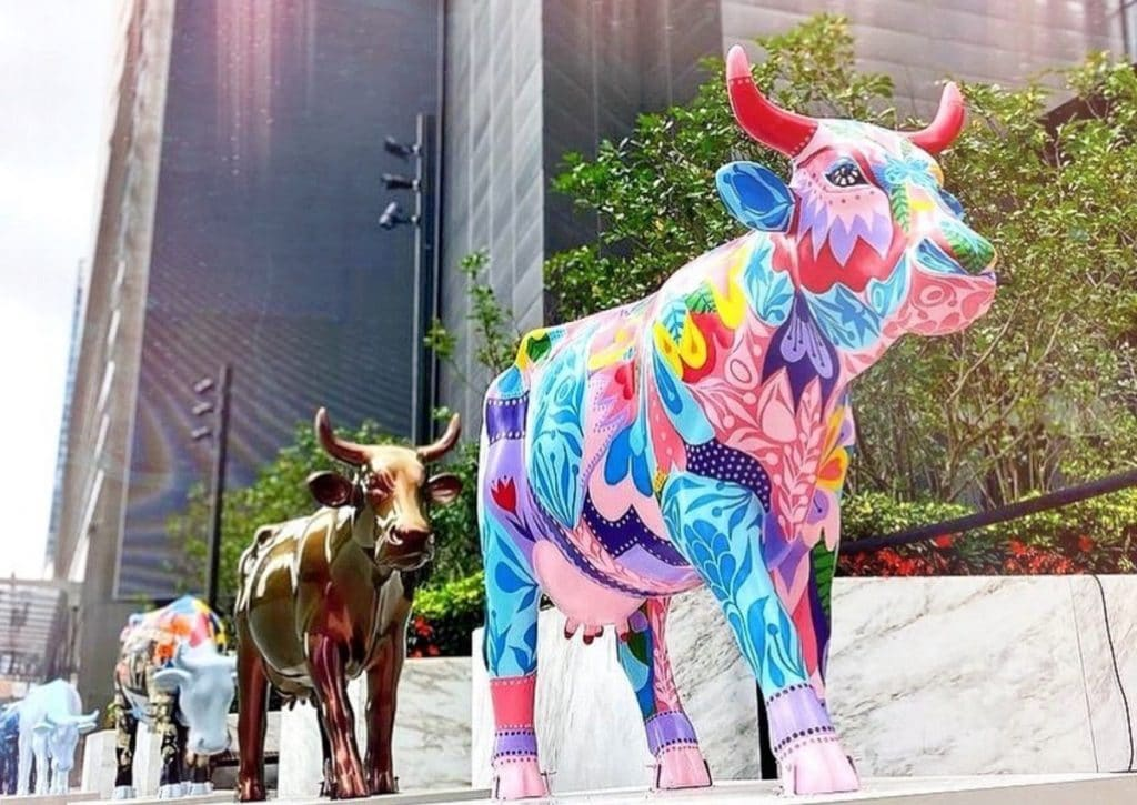 A Herd Of Colorful Fiberglass Cattle Has Taken Over NYC