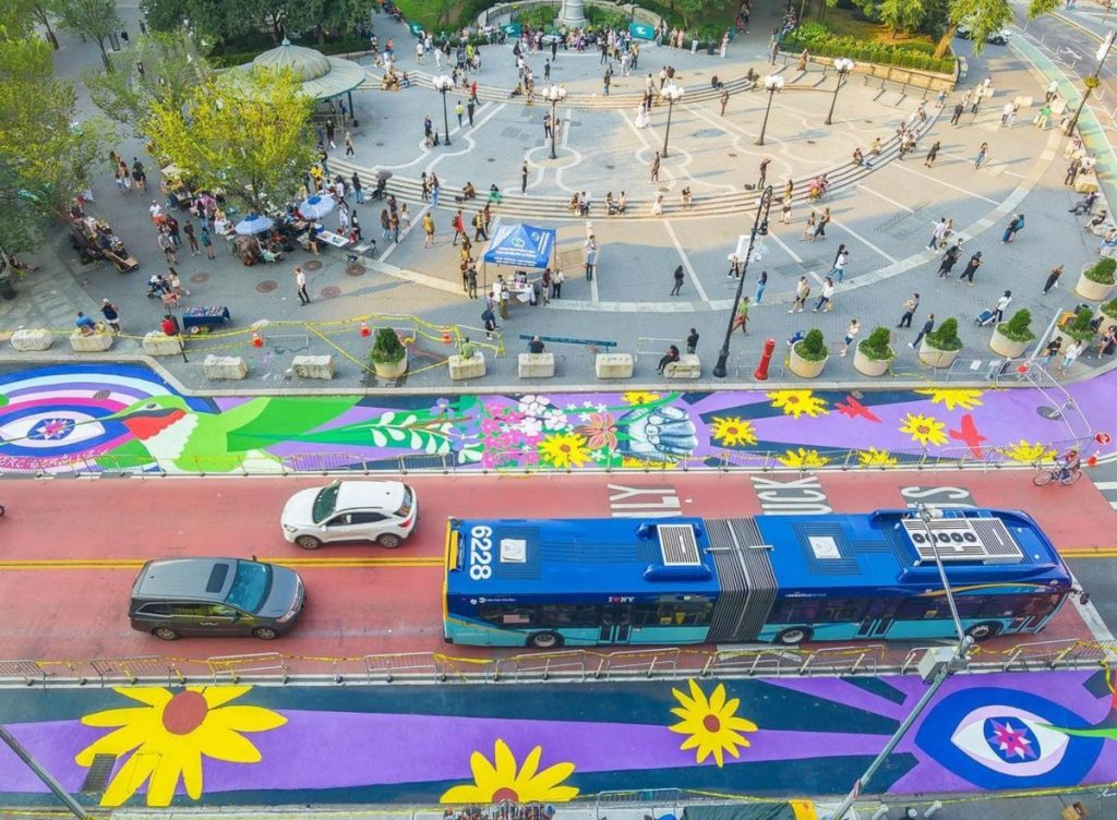A Massive Technicolor Street Mural Has Taken Over Union Square