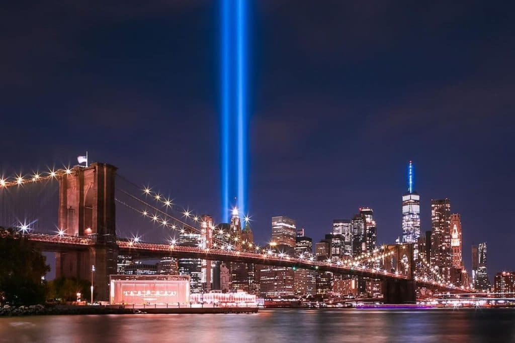 Landmarks Across NYC Will Light Up In Blue Tonight To Commemorate 20th Anniversary Of 9/11