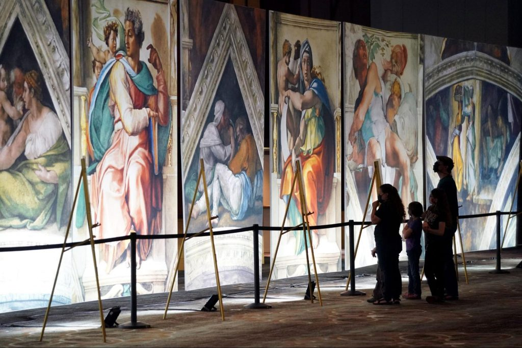 This Gorgeous Immersive Exhibition Of Michelangelo's Sistine Chapel Is Finally Open In NYC