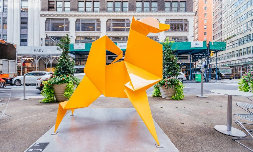 These Giant Colorful Origami Sculptures Are Brightening Up Midtown