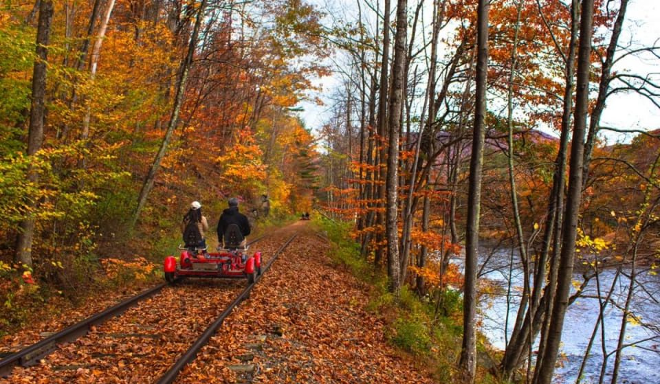 Take A Gorgeous Fall Foliage Ride In The Catskills On Historic Railroad Tracks