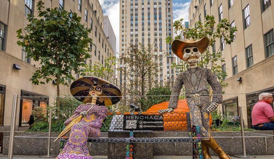 Rockefeller Center Just Transformed Into A Beautiful 'Día De Muertos' Celebration
